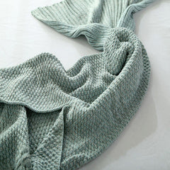 Cozy Cotton-Knit Mermaid Tail Blanket - BoardwalkBuy - 4