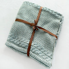 Cozy Cotton-Knit Mermaid Tail Blanket - BoardwalkBuy - 2