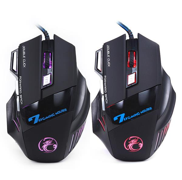 Gaming Mouse 7 Button 5500 DPI LED Optical USB Wired - BoardwalkBuy - 1