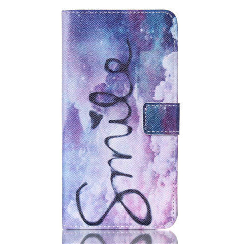 Purple Smile Stand Leather Case For Samsung Note3 - BoardwalkBuy - 1