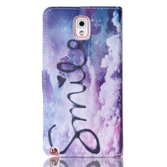 Purple Smile Stand Leather Case For Samsung Note3 - BoardwalkBuy - 2