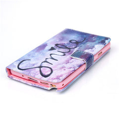 Purple Smile Stand Leather Case For Samsung Note3 - BoardwalkBuy - 4
