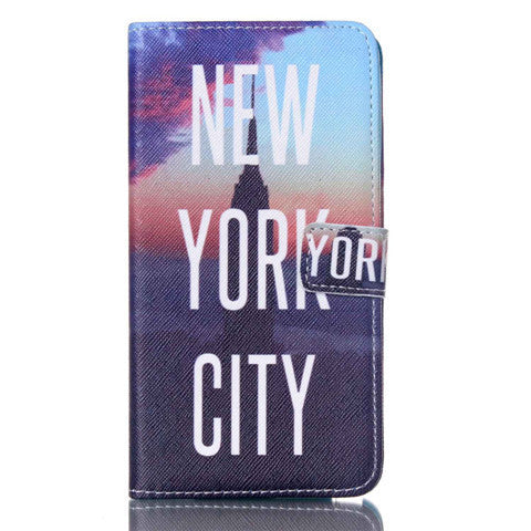 New York Stand Leather Case For Samsung note3 - BoardwalkBuy - 1