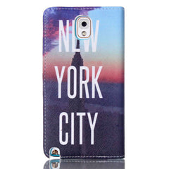 New York Stand Leather Case For Samsung note3 - BoardwalkBuy - 3