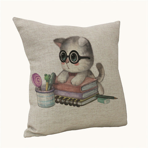 Cartoon Cat Decorative Pillow Cushions