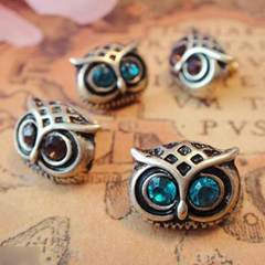 Crystal Owl Earrings - BoardwalkBuy - 2