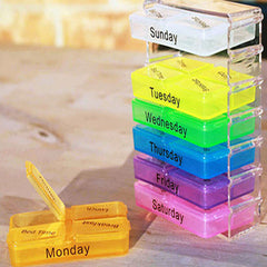 Compact Weekly Pill Organizer - BoardwalkBuy - 3