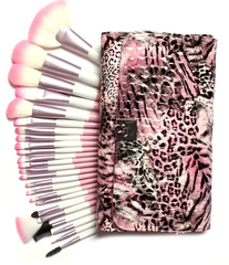 24 Piece Pink Leopard Brush Set - BoardwalkBuy - 6