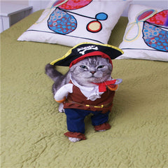 Pirate Apparel Pet Clothes Suit + Hat