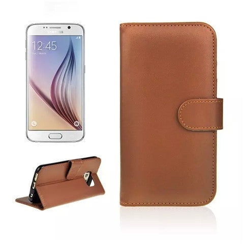 Wallet Stand Leather Case for Samsung S6 - BoardwalkBuy - 1