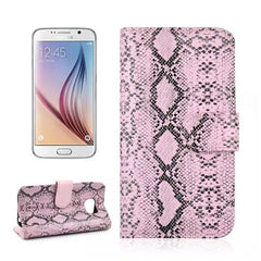 Snake Leather Stand Case for Samsung S6 - BoardwalkBuy - 2