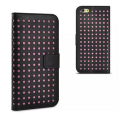 Dots Leather Wallet Case for iPhone 6 Plus - BoardwalkBuy - 2