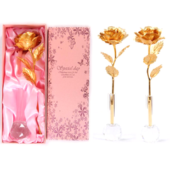 24K Gold Plated Forever Love Rose - BoardwalkBuy - 1