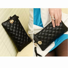 Ladies Soft Leather Clutch Long PU Card Purse Handbag - BoardwalkBuy - 2