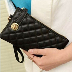 Ladies Soft Leather Clutch Long PU Card Purse Handbag - BoardwalkBuy - 3