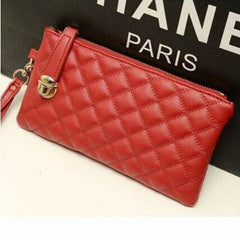 Ladies Soft Leather Clutch Long PU Card Purse Handbag - BoardwalkBuy - 5