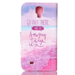 Pink Stand Leather Case For Samsung S4 - BoardwalkBuy - 3