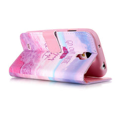 Pink Stand Leather Case For Samsung S4 - BoardwalkBuy - 4