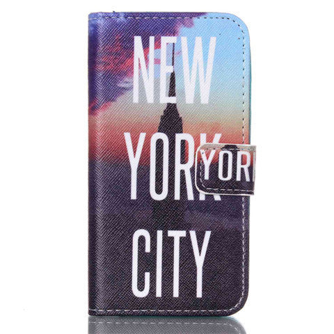 New York Stand Leather Case For Samsung S4 - BoardwalkBuy - 1
