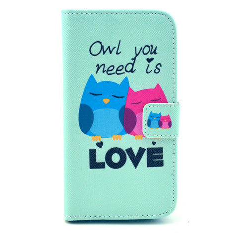 Love Stand Leather Case For Samsung S4