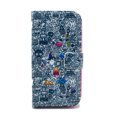 Comic Stand Leather Case For Samsung S4 - BoardwalkBuy - 1