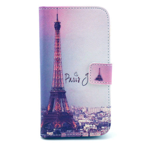 Paris Stand Leather Case For Samsung S4 - BoardwalkBuy - 1