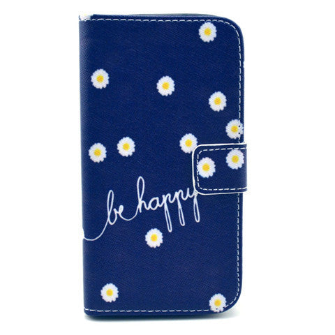 Chrysanthemum Stand Leather Case For Samsung S4 - BoardwalkBuy - 1