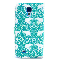 Green elephant Stand Leather Case For Samsung S4 - BoardwalkBuy - 3