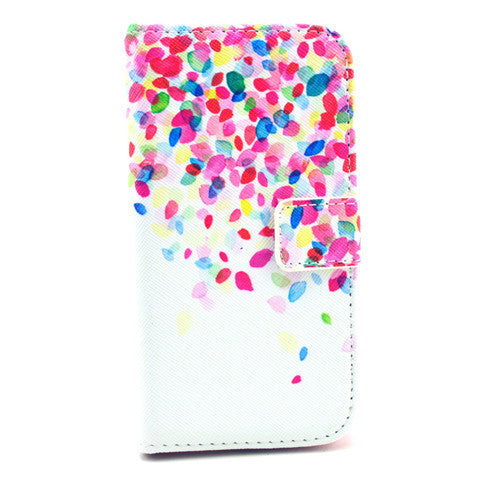 Petals Stand Leather Case For Samsung S4