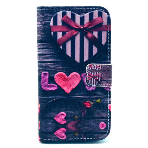 love Stand Leather Case For Samsung S4 - BoardwalkBuy - 1
