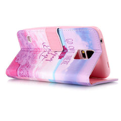 Pink Stand Leather Case For Samsung S5 - BoardwalkBuy - 3