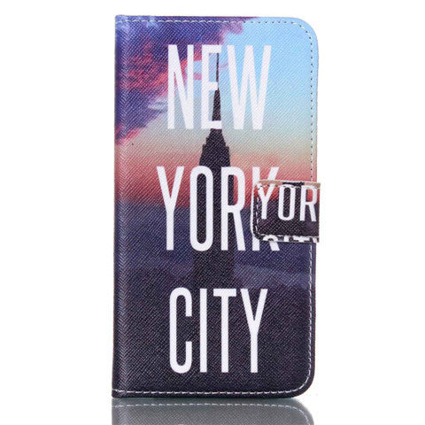 New York Stand Leather Case For Samsung S5 - BoardwalkBuy - 1