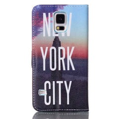 New York Stand Leather Case For Samsung S5 - BoardwalkBuy - 4