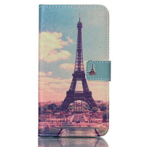 Paris Stand Leather Case For Samsung S5 - BoardwalkBuy - 1
