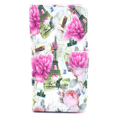 Flower tower Stand Leather Case For Samsung S5