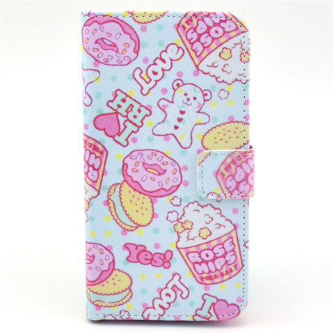 Cookies Stand Leather Case For Samsung S5