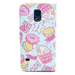 Cookies Stand Leather Case For Samsung S5 - BoardwalkBuy - 3