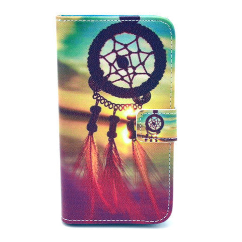 Dreamcatcher Stand Leather Case For Samsung S5