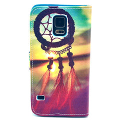 Dreamcatcher Stand imitation Leather Case For Samsung S5 - BoardwalkBuy - 2