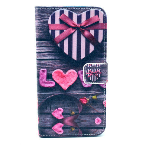 Love Stand Leather Case For Samsung S5 - BoardwalkBuy - 1