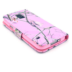 Pink branch Stand Leather Case For Samsung S5 - BoardwalkBuy - 4
