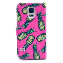 Pineapple Stand Leather Case For Samsung S5 - BoardwalkBuy - 3