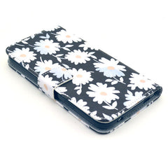 Blacek flower Stand Leather Case For Samsung S5 - BoardwalkBuy - 4