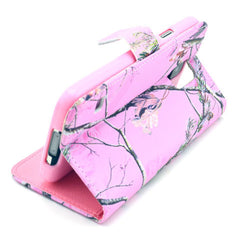 Pink branch Stand Leather Case For Samsung S5 - BoardwalkBuy - 2