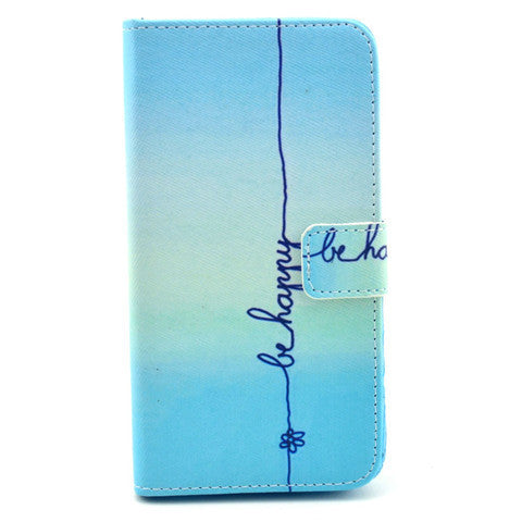 Happy Stand Leather Case For Samsung S5 - BoardwalkBuy - 1