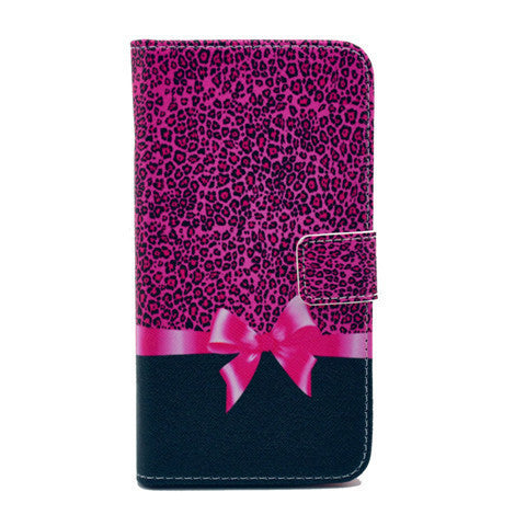 Bowknot Stand Artificial Leather Case for Samsung S5 - BoardwalkBuy - 1