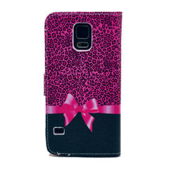 Bowknot Stand Artificial Leather Case for Samsung S5 - BoardwalkBuy - 2