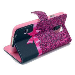 Bowknot Stand Artificial Leather Case for Samsung S5 - BoardwalkBuy - 4