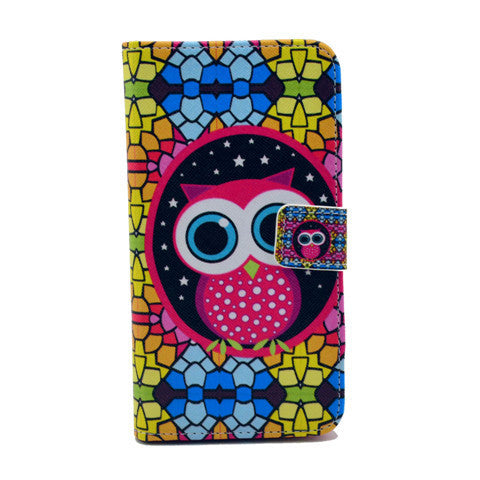 Masonry owl Stand Leather Case For Samsung S5 - BoardwalkBuy - 1