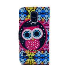 Masonry owl Stand Leather Case For Samsung S5 - BoardwalkBuy - 3